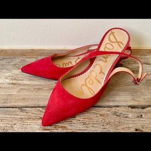 Sam Edelman red sling back pumps US size 8